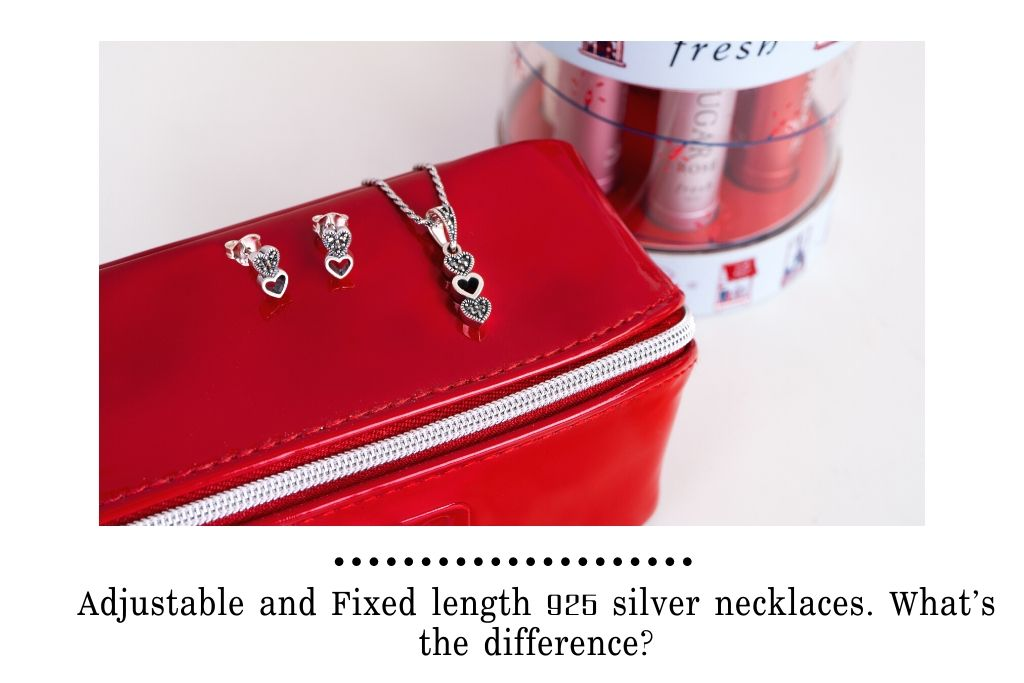 Adjustable and Fixed length 925 silver necklaces. What's the difference?